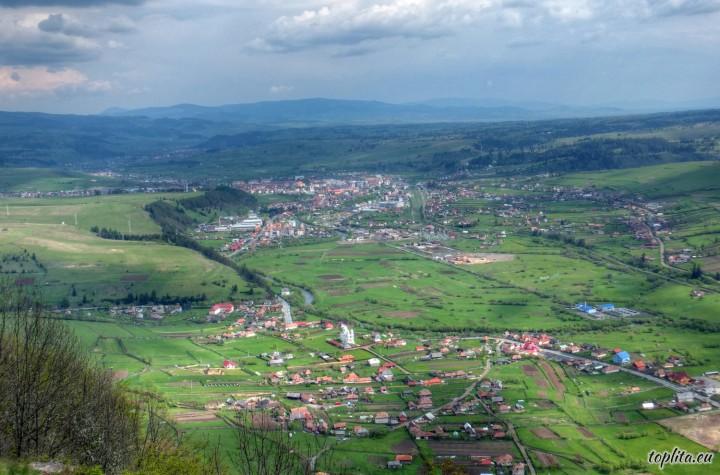 Toplița, general view