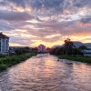 Sunset on the River Mures
