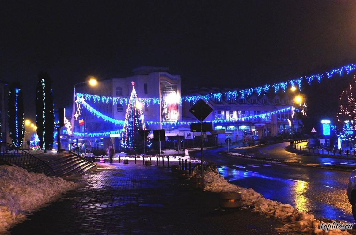 Centrul orașului noaptea
