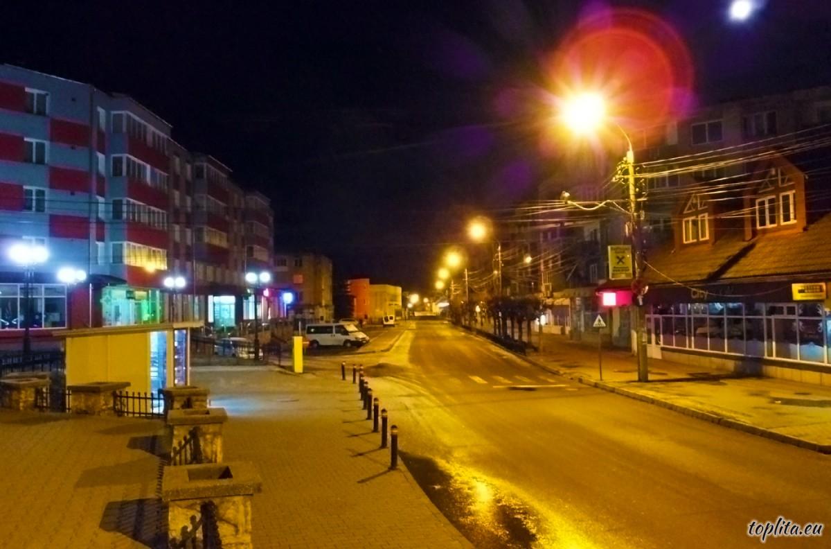 Nicolae Balcescu sugárút ejszaka